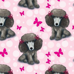Poodle butterflies  pink M