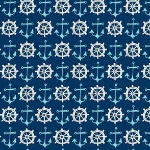 Anchors Away Navy Blue Nautical
