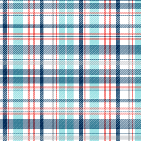 Deck Chair Plaid - Nautical fabric by heatherdutton on Spoonflower - custom fabric
