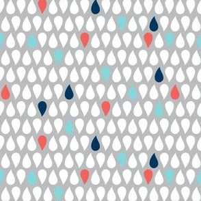 Sea Spray - Geometric Grey