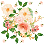 Floral Peach Delight - Large Print