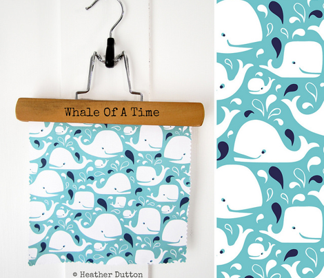 Whale Of A Time - Nautical Aqua Blue