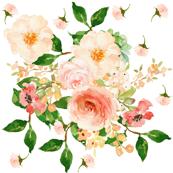 Floral Peach Delight - Small Print