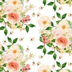 "4"" Floral Peach Delight - Small Print"