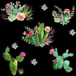 Western Flowers - Black