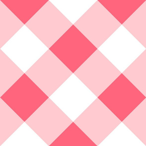 On Point Gingham // Pink Rose // Cheater Quilt