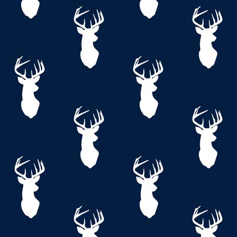 Buck on Navy fabric by littlearrowdesign on Spoonflower - custom fabric