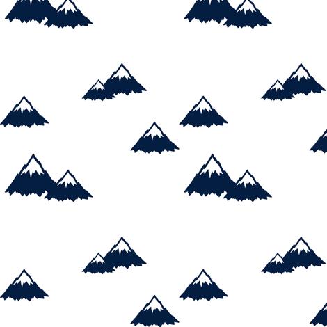 Mountains // Navy  fabric by littlearrowdesign on Spoonflower - custom fabric