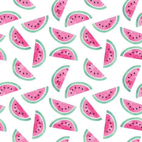 Watermelon (small scale)  fabric by littlearrowdesign on Spoonflower - custom fabric