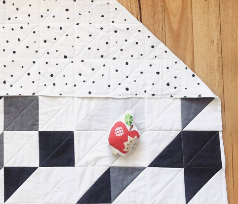 Wholecloth DIY Cheater Quilt Blanket || Grey Monochrome