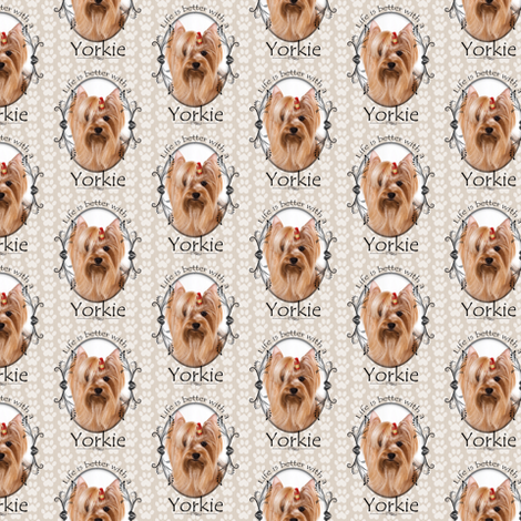 Better Life Yorkie 2 fabric by pateisen on Spoonflower - custom fabric