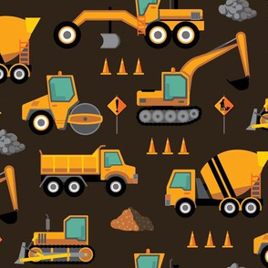 Construction: Roadworks Scatter - Brown