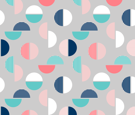 Geo Circle Grey  fabric by amandacallcott on Spoonflower - custom fabric