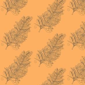 feather orange