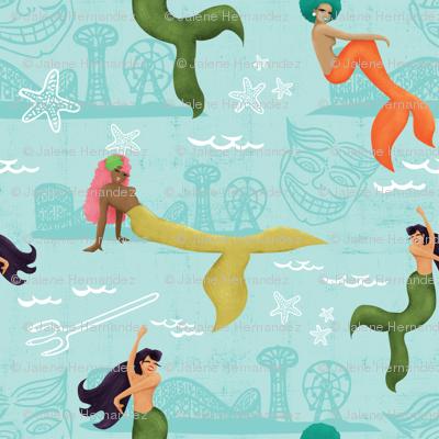 Coney Island Mermaid Parade - Blue