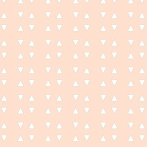 Triangles and Diamonds with Soft Pink Blush Background