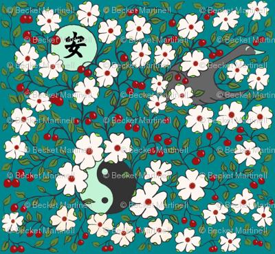 Tranquility  Japanese Floral Garden sewindigo