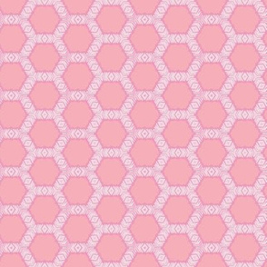 Geometric Coral Pattern in Pink Hues