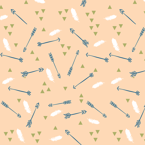 Arrows adn Feathers fabric by hudsondesigncompany on Spoonflower - custom fabric