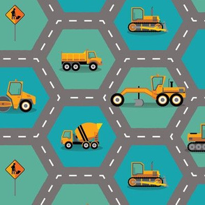 Construction: Roading Machinery Hexagonal
