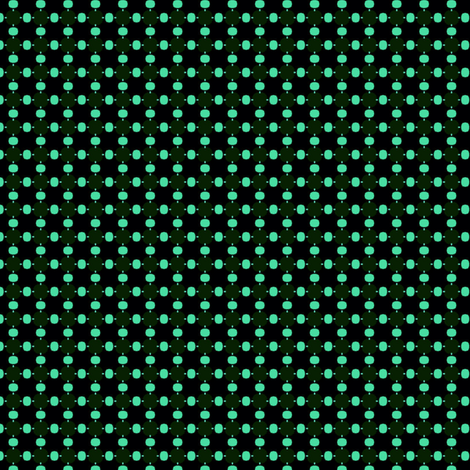 green dots on black fabric by susiprint on Spoonflower - custom fabric