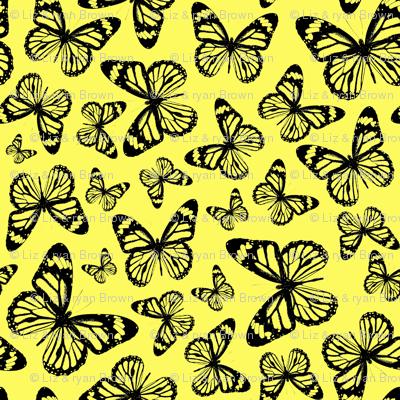 Yellow Butterflies - Large