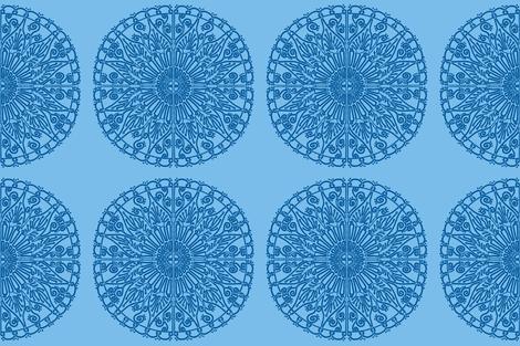 Moroccan Tiles - Indigo fabric by kelly_korver on Spoonflower - custom fabric