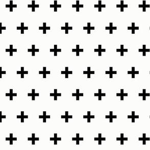Plusses Crosses