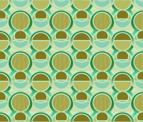 Modern Style Art Deco Greens fabric by bloomingwyldeiris on Spoonflower - custom fabric