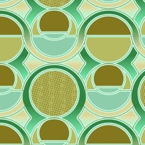 Modern Style Art Deco Greens