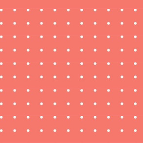 White Dots on Coral Background