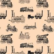 Antique Steam Engines - Peach - Small
