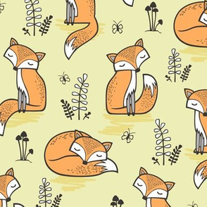 Dreamy Fox in Tender Yellow