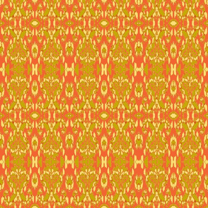 Flame Ikat/Orange/Khaki/Yellow