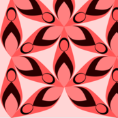 Floral geometric pattern in red