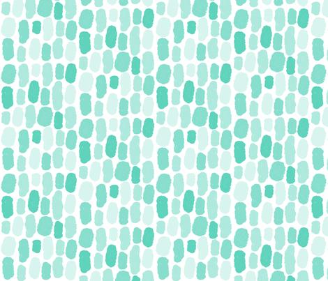 Aqua Watermark fabric by belle&bo on Spoonflower - custom fabric
