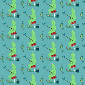 Sabashi's Fishing Adventure fish children baby  room fabric