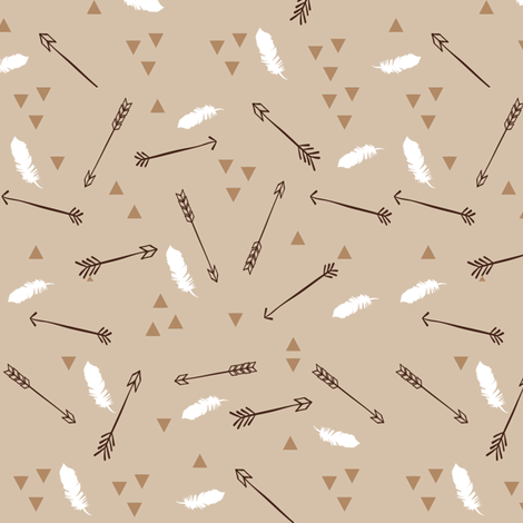 Arrows with Feathers and Triangles fabric by hudsondesigncompany on Spoonflower - custom fabric