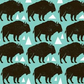Follow The Herd - Buffalo Aqua