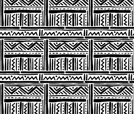 Tribal Inspired Black and White Lines and Zig Zags fabric by statement_goods on Spoonflower - custom fabric