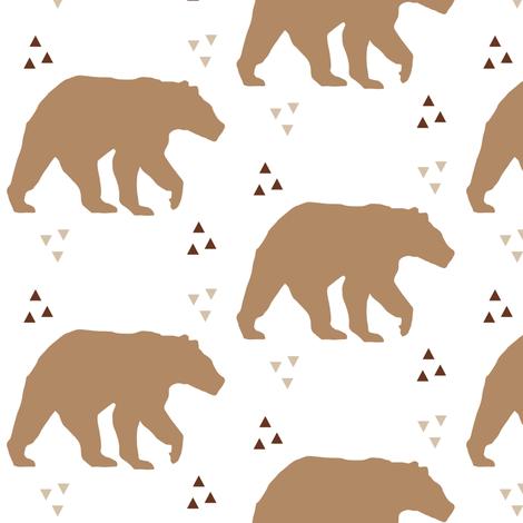 Geo Triangle Bear fabric by hudsondesigncompany on Spoonflower - custom fabric