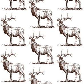 Vintage Rustic Stag Deer