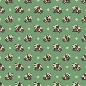 Panda Pattern in Green