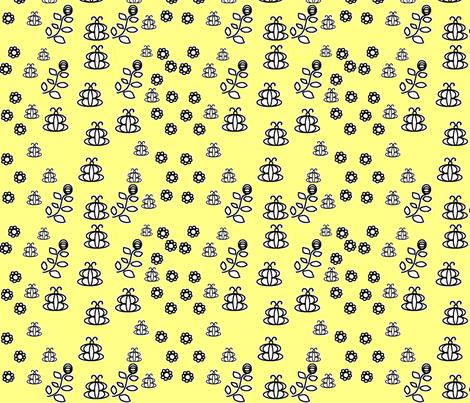 Fireflies fabric by feralartist on Spoonflower - custom fabric