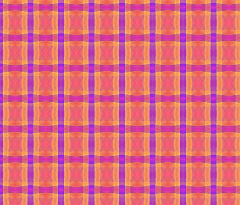 Tropical Sunrise abstract in pink, orange and purple fabric by denisebeverly on Spoonflower - custom fabric