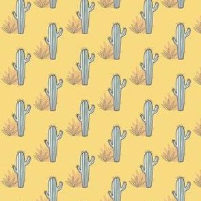 Little Cactus on Yellow