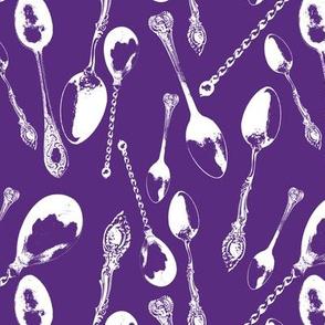 Antique Spoons on Windsor Purple // Large