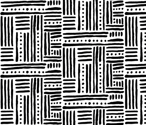 Black_and_White_-_Hand_Painted_Designs__29_ fabric by statement_goods on Spoonflower - custom fabric