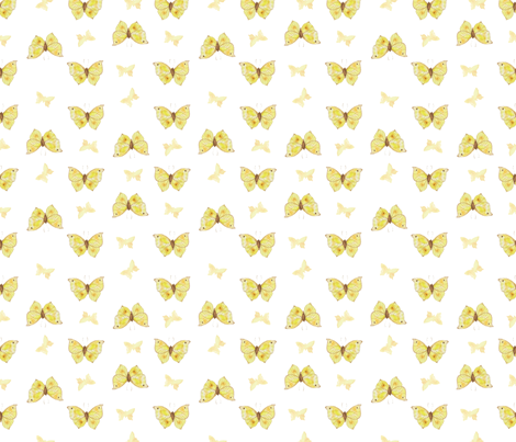 Yellow Butterflies fabric by valeri_nick on Spoonflower - custom fabric