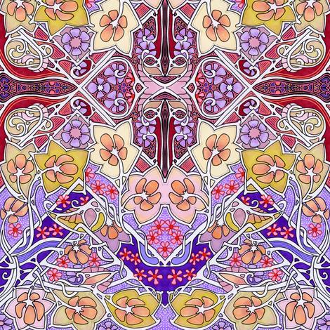 Garden of Cheer fabric by edsel2084 on Spoonflower - custom fabric